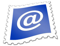 E-mail postage stamp Royalty Free Stock Image