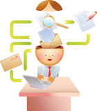 E-mail proces Royalty-vrije Stock Afbeeldingen