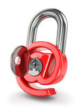 E-mail protection. At as lock and key. Royalty Free Stock Photo