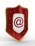 E-mail protection on white background Stock Photo