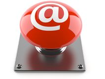 E-mail push button Stock Images