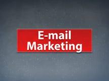E-mail que introduz no mercado o fundo vermelho do sumário da bandeira ilustração stock