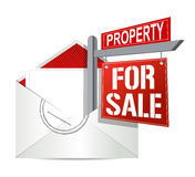 E-mail and real estate for sale sign Royalty Free Stock Photography