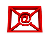 E-mail red concept Stock Photography
