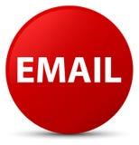 E-Mail-roter runder Knopf Lizenzfreie Stockbilder