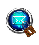 E-Mail Safe. Stock Photography