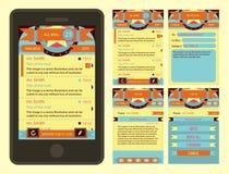 E-Mail-Schnittstellenformschablone für Telefon Stockfoto