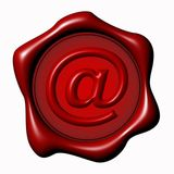 E-Mail Seal Royalty Free Stock Images