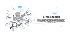 E-mail Search Digital Content Information Technology Business. Vector Illustration Royalty Free Stock Photo
