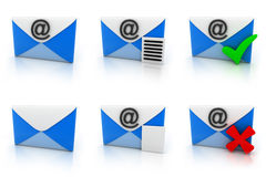 E-mail set Royalty Free Stock Photography