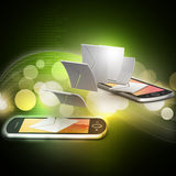 E-mail sharing between smart phone Royalty Free Stock Images