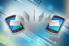 E-mail sharing between smart phone Royalty Free Stock Photography