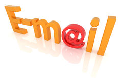 E-mail sign Stock Image