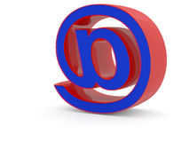 E-mail sign. Royalty Free Stock Photography