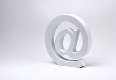 E-mail @ sign block letter symbol Stock Image
