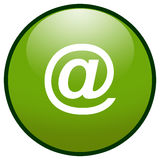 E-mail sign Button Icon (Green). Highresolution green button/icon style image of e-mail symbol vector illustration