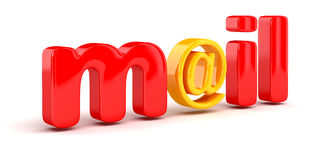 E-Mail sign (clipping path included) Royalty Free Stock Image