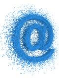 E-mail sign exploding. Over white background royalty free illustration