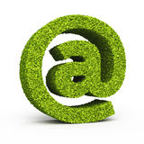 E-mail sign leaf formation Royalty Free Stock Photos
