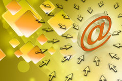 E-mail sign with  mouse pointer Royalty Free Stock Photography