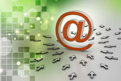 E-mail sign with  mouse pointer Royalty Free Stock Photo