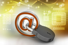 E-mail sign with padlock Royalty Free Stock Photos