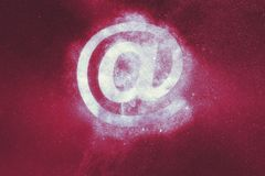 E-mail sign. E-mail symbol. Abstract background. Symbol royalty free illustration