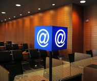E-mail signboaed in airport Royalty Free Stock Photos