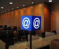 e - mail signboaed portów lotniczych Zdjęcia Royalty Free