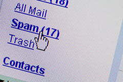 e - mail skrzynki folder spam Obraz Royalty Free