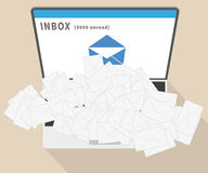 E-mail spam Royalty Free Stock Photography