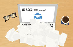 E-mail spam Stock Photography