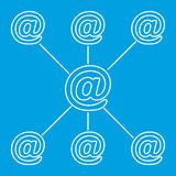 E-mail spreading line pictogram Royalty Free Stock Photo