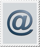 E-Mail-Stamp. Poststamp with E-Mail symbol Royalty Free Stock Images