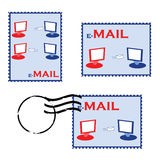 E-mail stamps Stock Images