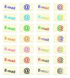 E-mail stamps - cdr format Stock Photography