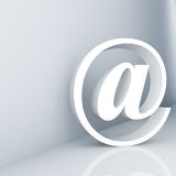 E-mail symbol. Rendering of an e-mail symbol Royalty Free Stock Photo