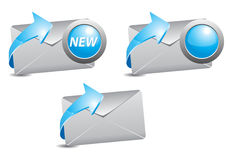 E-mail symbol. Electronic mail and the blue arrows symbol Stock Photography