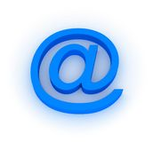 E-mail Symbol. 3d over white background Royalty Free Stock Photography