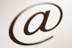 E-mail Symbol. Closeup image of e-mail symbol royalty free stock photos