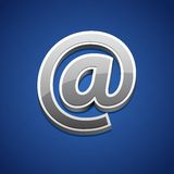 E-mail Symbol. Vector illustration of e-mail symbol against abstract background Stock Image