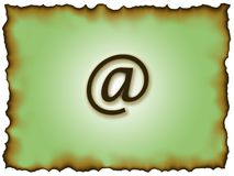 E-mail symbol. An e-mail symbol on a burnt edged background Stock Photo