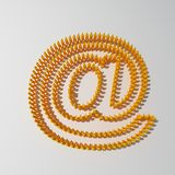 E-mail symbol. 'at' or email symbol made of people Stock Photography
