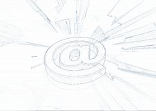 e - mail, symbol Obraz Royalty Free