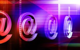E-mail symbol. Digital illustration of Royalty Free Stock Image