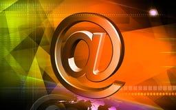 E-mail symbol. Digital illustration of Royalty Free Stock Photos
