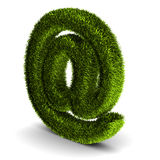 E-mail symbol covered grass Stock Image