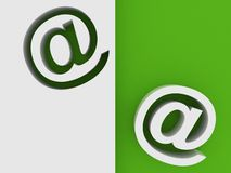 E-mail Symbol 3D Royalty Free Stock Photo