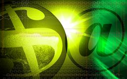 E-mail symbol and dollar sign Stock Image