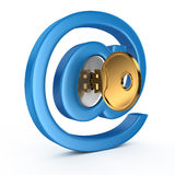E-mail symbol with key Royalty Free Stock Photo
